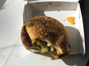 Disgusting burger